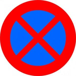 verboden-stilstaan